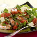 Prawn and Seedless Watermelon Salad