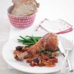 Turkey Drumsticks with Fennel, Tomato and Olives