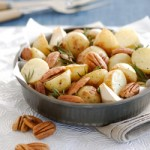 Roasted Chats with Pecans and Rosemary