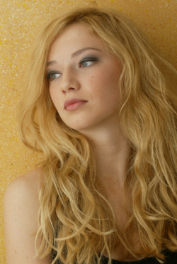 Beautiful womanl with blonde curled hair