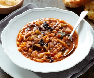 Tuscan tomato, bean and cabbage soup
