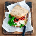 Chicken and Slow Roasted Tomato Sandwich with Basil Aioli