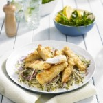 Coconut Ribbons with Apple and Fennel Coleslaw