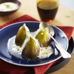 Fresh Figs Poached in Rosewater and Honey