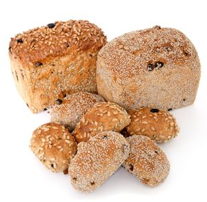 Chia Fruit Loafs and Buns