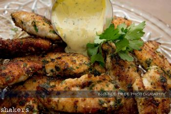 Chicken Dippers with Basil Aioli