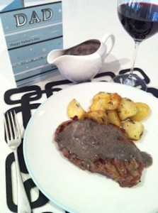 Steak  Potatoes with Mushroom Sauce  2