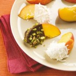 Recipe: Peach Wedges Dipped in Chocolate
