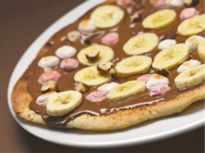 Bad boy chocolate pizza