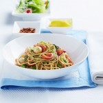 Recipe: Gluten Free Spaghetti with scallops, asparagus and Pesto Genovese