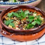 Recipe: Middle Eastern Cous Cous with Vegetables and Sweet Balsamic Caramelised Figs