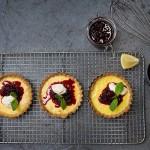 Recipe: Sweet Balsamic Berry Compote on Lemon Custard Tart