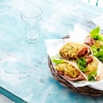 Recipe: Pitas Filled with Ham and Pesto Scrambled Eggs