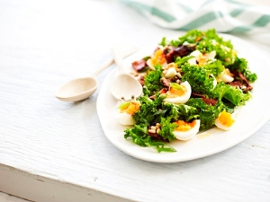 Kale Bacon Egg Salad