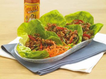 Chili Garlic Chicken Lettuce Wraps