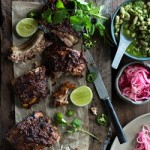 Mexican Pork Ribs with White Beans & Pickled Onions