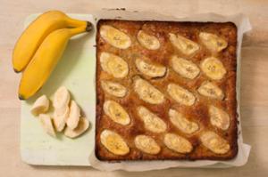 square banana cake