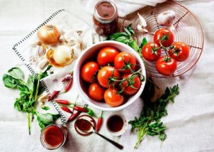 basil garlic tomato sauce