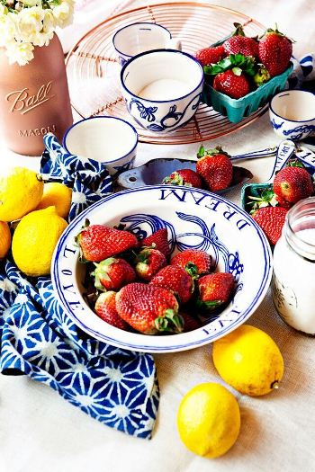 lemony strawberry jam