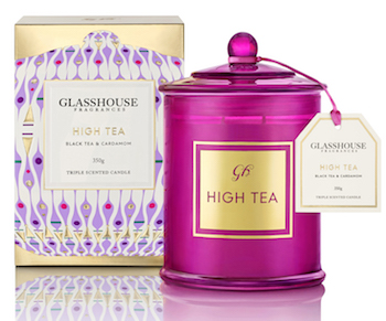 Glasshouse Fragrances Candle 350 High Tea 2016 RRP $44.95 copy