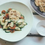 Recipe: Zucchini, tomato and macadamia salad with parmesan crisps