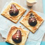 Recipe: Poached pear and macadamia frangipane tart with Frangelico custard and honey roasted macadamias
