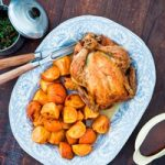 Recipe: Roast Chicken with Persimmons and Puy Lentils