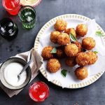 Recipe: Baby Pea and Roma Tomato Arancini with Napolitana Sauce