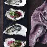 Recipe: Freshly shucked oysters with eschalot cabernet vinegar and caper/gherkin relish