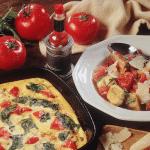 Recipe: Spinach, Tomato and Parmesan Frittata